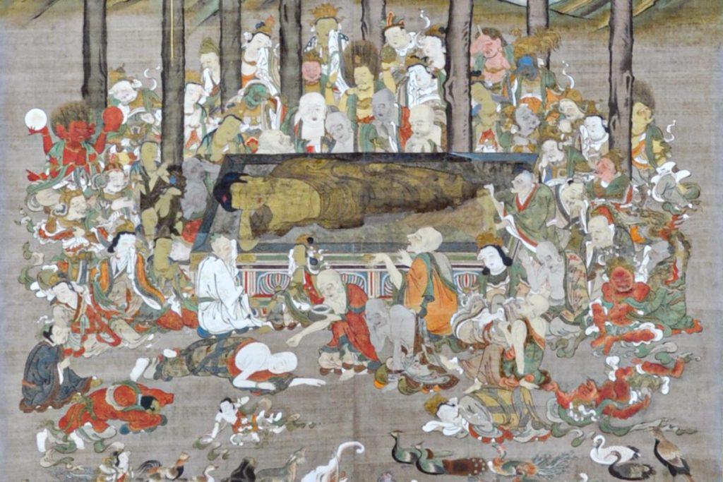 養栄山 安養寺 掛軸涅槃画修復